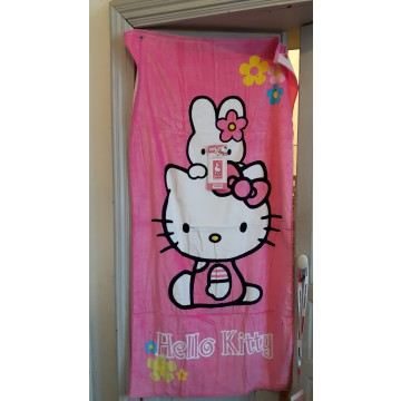 Hello Kitty Serviette Bain Plage Velours Eponge