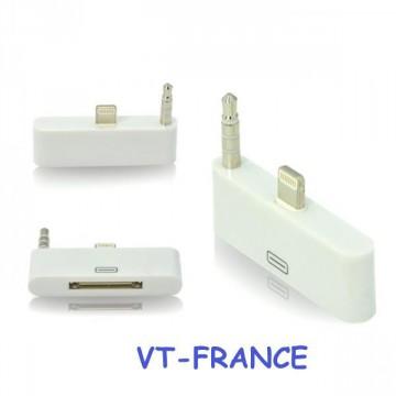 Adaptateur  30 pin vers 8 pin pour iPhone 5 / 6  iPad 4 Air