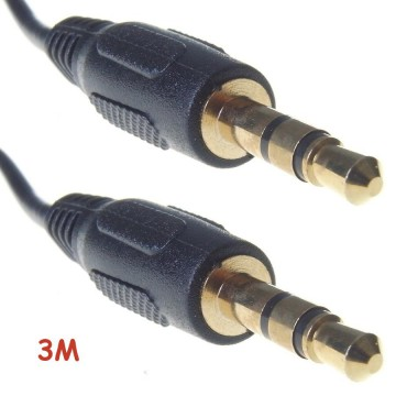Cable Audio Stereo Jack 3.5mm Stereo Headphone Mic HP Extension
