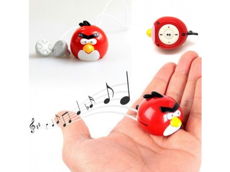 Lecteur MP3 ANGRY BIRDS  + MicroSD 2GB + Ecouteurs + adaptateur USB