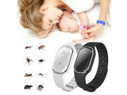 Bracelet LED Ultrasons Anti Moustiques Insectes