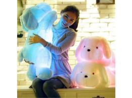 Chien Peluche 50cm Lumineux LED