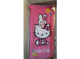 Hello Kitty Serviette Bain Plage Velours Eponge