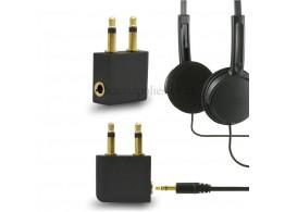Adaptateur Audio Stereo Jack 3.5mm pour Avion