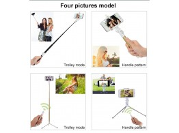 Perche Monopode Trepied Carbon Fiber Bluetooth Selfie Monopod  GoPro Iphone IOS Android