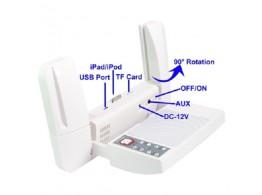 Dock Audio Multi Fonction Portable pour iPhone iPad iPod PC USB MP3 SD Telecommande