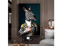 Peinture Impression sur Toile Animal Abstrait