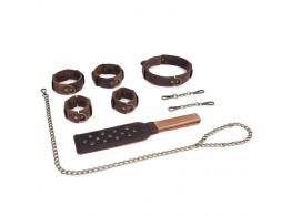Kit Bondage BDSM Cuir Vintage
