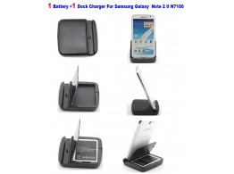 Dock Chargeur Multifonction + Batterie Samsung Galaxy Note 2 N7100 EB595675LU