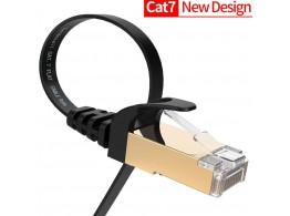Cable Ethernet Plat Blinde Noir CAT7 RJ45 10GB