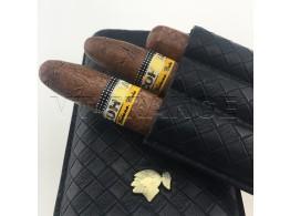 Etui 3 Cigare COHIBA en Cuir