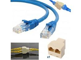Adaptateur LAN RJ45 Cat 5-6 Ethernet Connecteur Hub