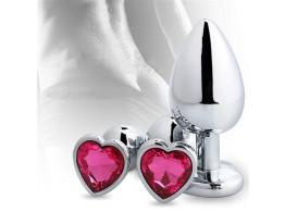 Plug Anal Inox avec Diamant Coeur