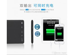 Batterie Power Bank Solaire 10000mAh 2.1A + 1A  Ultra Mince iPhone Samsung iPad