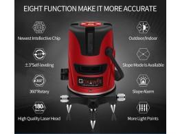 Niveau Laser Rotatif 360 Auto Nivelant 5 LIGNES 6 POINTS