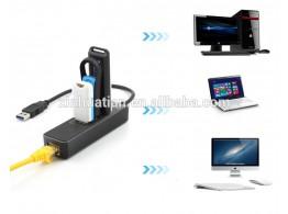 Hub USB 3.0/3.1  3 ports LAN / RJ45 Ethernet 1Gb