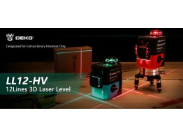 Niveau Laser Rotatif 360 Auto Nivelant 3D 12 Lignes 3D