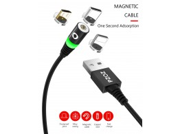 Cable Magnetique Charge Rapide  3 embouts pour Apple Samsung Smartphones Tablettes