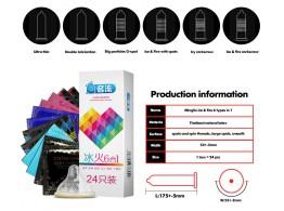 24 Preservatifs Latex Ultra Fin Assortis