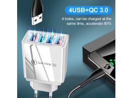 Chargeur  Secteur Rapide 3A 4 USB  4 en 1