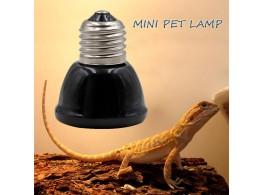 Mini Ampoule Chauffante Ceramique Noir pour Reptiles