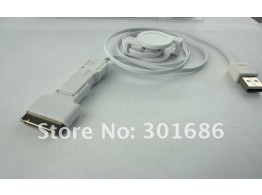 Cable USB 3 en 1 retractable  BLANC