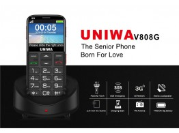 Telephone Portable Senior 3G SOS Grosses Touches