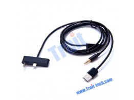 Cable Audio Jack USB 8 pin Auto   iPhone 5/5S/SE