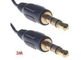 Cable Audio Stereo Jack 3.5mm
