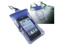 Etui housse etanche Waterproof Case iPhone iPad Samsung Passeport  Argent