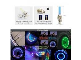 LED Bouchon Valve  Lumineux Auto  Moto Velo Securite