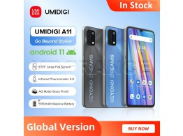 """Telephone A11 6.53"""" HD+ 4G 2 Sim 4 Camera Android 11"""