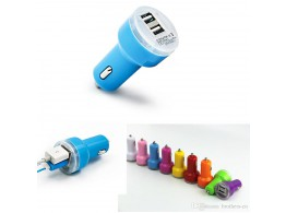 Double chargeur USB Voiture Allume Cigare iPhone iPad Tablettes  Samsung  Sony GPS