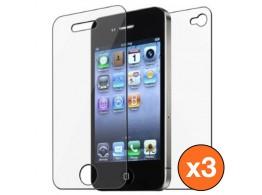 3 Fil Protection Ecran + Dos  iPhone 4 / 4S ScreenGUARD